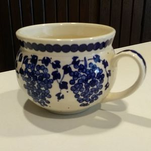 Other - Poland Blue & White Pottery Mug Vintage